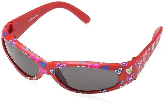 Eyelevel Baby-Sonnenbrille gemustert, für Mädchen Gr. Einheitsgröße, rot