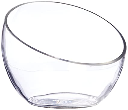 Amazon Wgv Clear Slant Cut Bowl Glass Vaseglass Terrarium 6