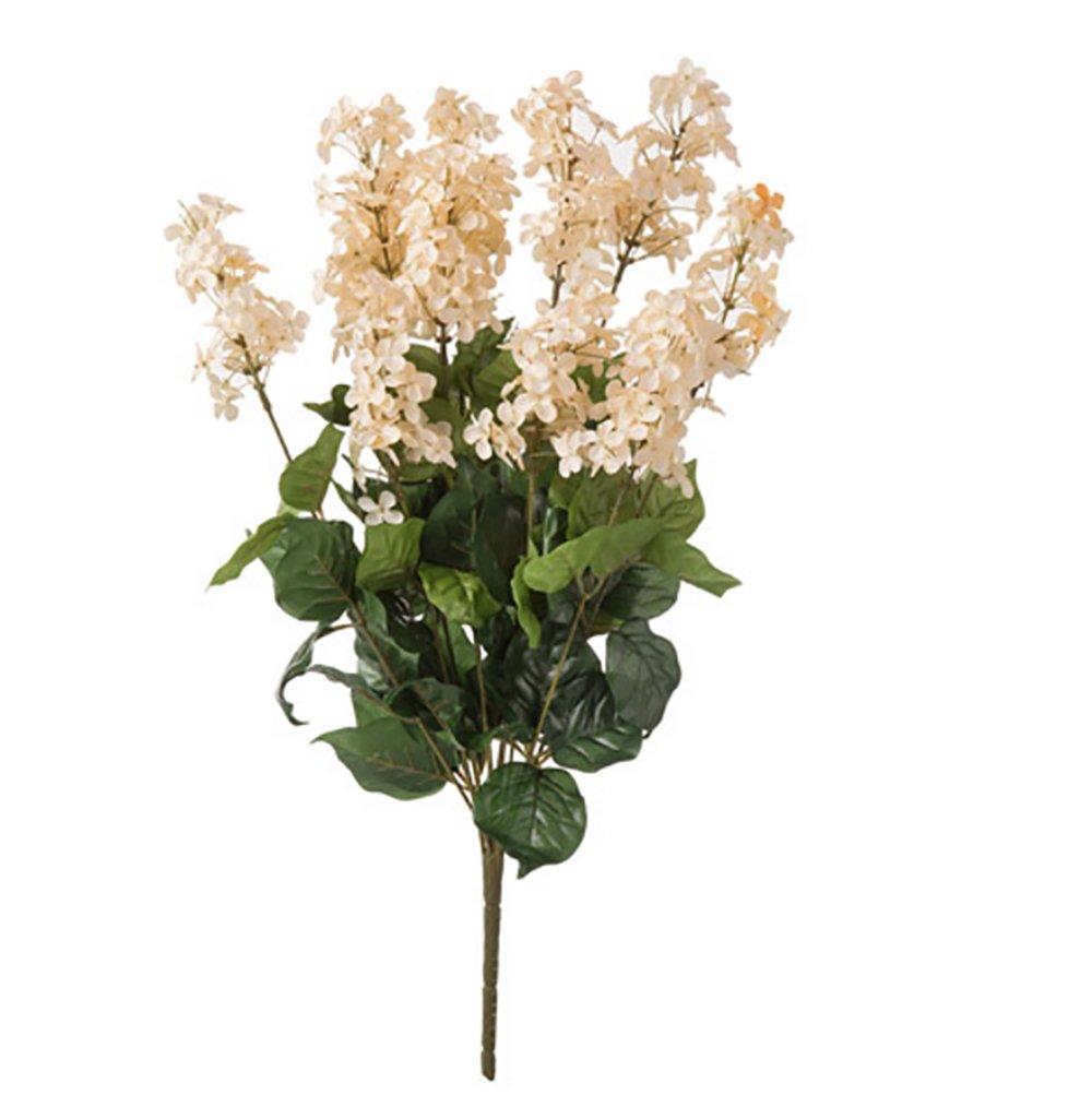 RetailSource Spring Floral 23 x 11 Lilac Bush Pick Cream MC-733-29x12 12 Pack