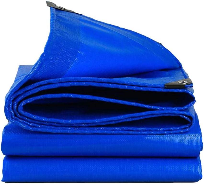 DALL ターポリン 防水 耐湿性 日焼け止め 倉庫 アウトドア 耐寒性 引裂抵抗 メタルホール PEタープ (Color : 青, Size : 4×5m) 青 4×5m