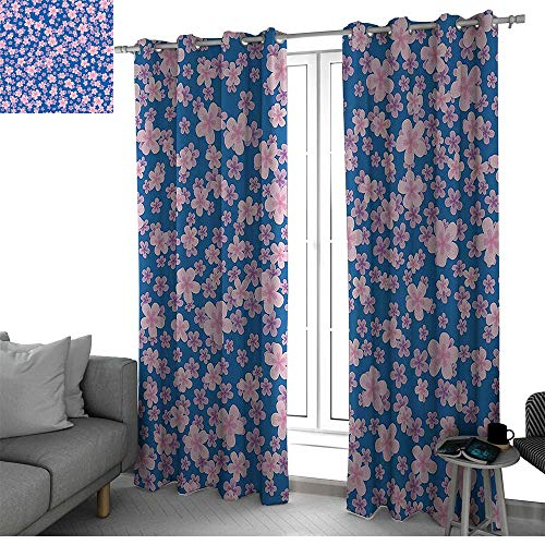House Decor Collection Kitchen/Bedroom Window Treatments Home Decoration Floral Classic Fabric Design Style Art Bloom Natural Lawn Backyard Cheering Image Black Out Window Curtain Blue Pink Purple
