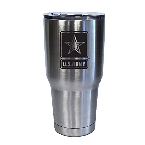 Amazon.com: Vaso de acero inoxidable con el logotipo del ...
