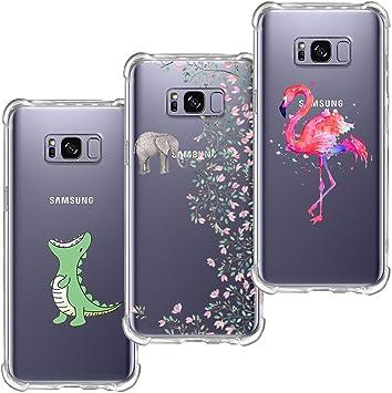 3 Pack] Funda Samsung Galaxy S8, Blossom01 Funda Ultra Suave ...