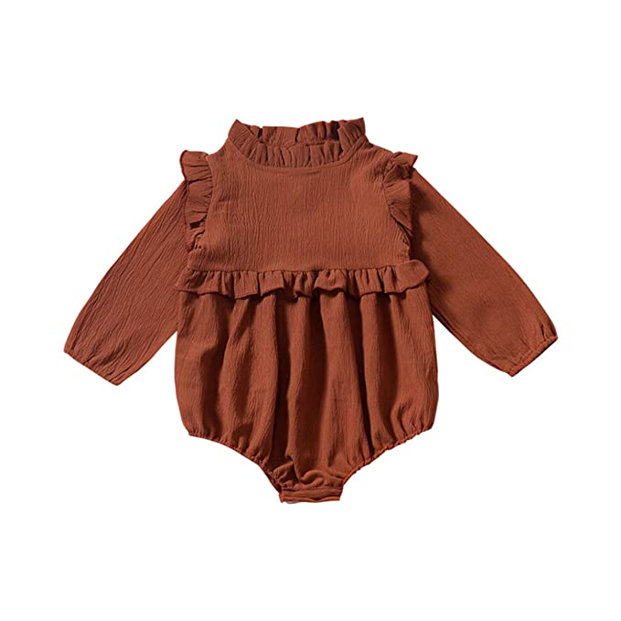 Amazon.com: Ropa de gasa para bebés y niñas, de manga larga ...