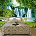 Amazhen Custom Wallpaper 3D Waterfall Nature Landscape Wall Painting Living Room Bedroom Home Decor Waterproof Wall Paper for Wall