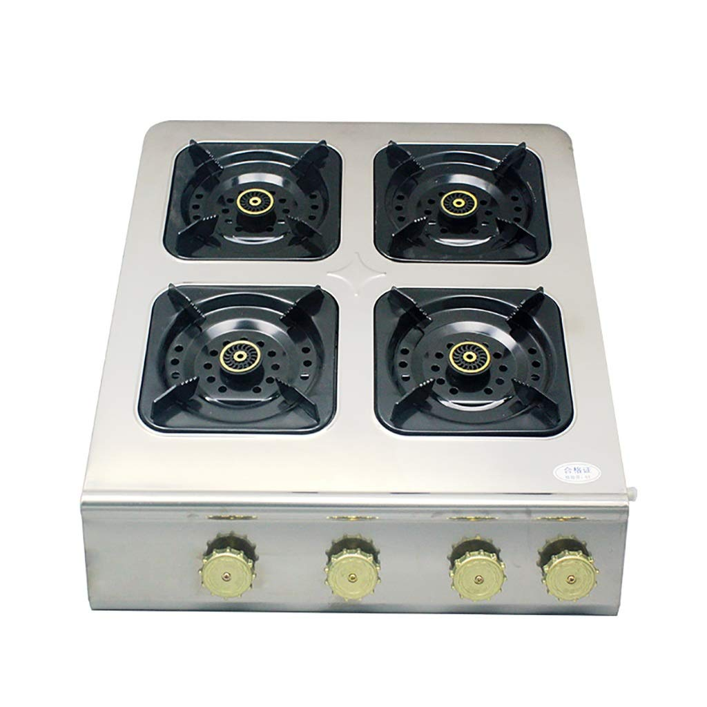 Natural Gas Cooktops,Stainless Steel Kitchen Hotel Outdoor, Restaurant, Home Desktop Rectangles 4 Burner Cooker Multi-Function Stove by LQ-Stoves