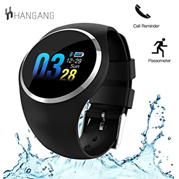 Hangang N68 Colorful Pantalla LED Reloj Inteligente Bluetooth 4.0 Pulsera Salud corazón Rater Fitness Tracker Monitor de presión Arterial: Amazon.es: ...
