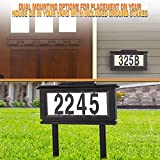 House Mailbox Numbers Reflective Sign – Address Plaques Door Numbers for Houses - Solar Street Address Led Light Signs for Home or Yard – Auto ON at Night – Off at Daylight – No Electric Power Needed
