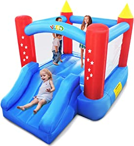 YARD Outdoor Indoor Bounce House Slide w/ Heavy Duty Blower for Kids Extra Thick PVC Material Jump Castle Wider Full Size Slide 6207 Upgrade Version
