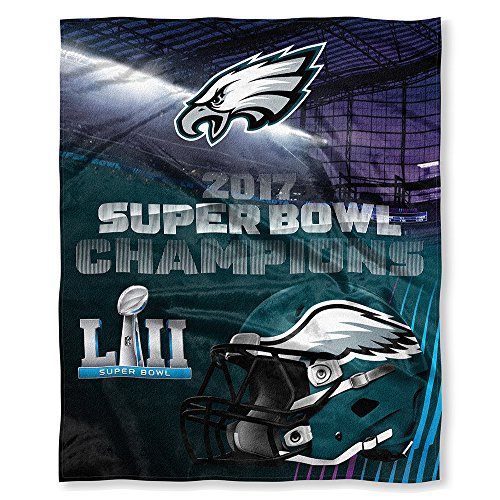 Philadelphia Eagles Super Bowl LII 52 Champions Silk Touch Blanket Throw - 50