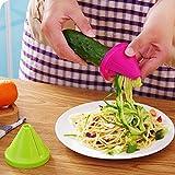 Kitchen Funnel Model Spiral Slicer Vegetable Shred Carrot Radish Cutter (Hot pink)