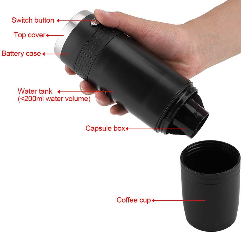 Coffee Maker Bottle Machine, Electric Portable Handhold Coffee Espresso Pressure Cup Mini Espresso Maker Home Office Travel Outdoor Compact Single Shot by Yosooo (Image #5)