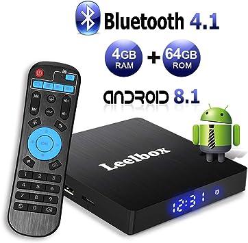 2019 Version Leelbox Q4 Plus Android Box 4GB RAM 64 ROM Bluetooth 4.1 RK3328 Quad Core 64bits Smart TV BOX Support 2.4Ghz Wi-Fi 4K 3D Full HD H.265 USB 3.0 Android 9.0 TV Box