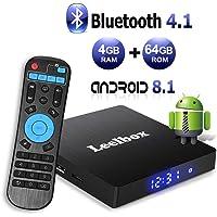 Android 8.1 TV Box with 4GB RAM 64GB ROM, Leelbox Q4 max RK3328 Quad Core 64 bit Built in BT 4.1,Supporting 4K (60Hz) Full HD/3D/H.265/WiFi 2.4GHz,USB 3.0[2019 Version]