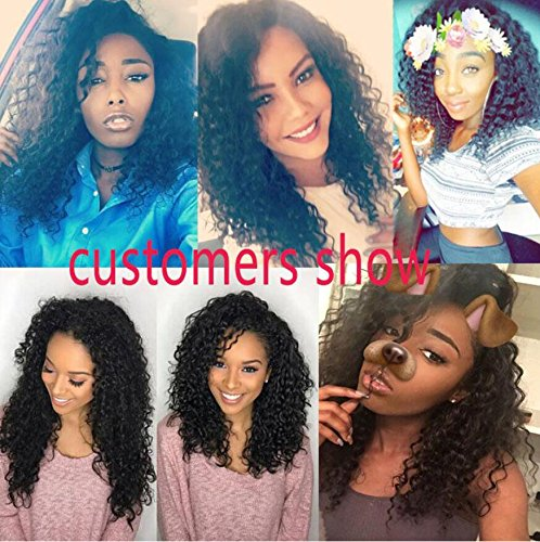 Lace Front Human Hair Wigs Deep Wave Curl Full Lace Human Hair Wigs For Black Women 8A Pre Plucked 130% Brazilian Lace Front Wigs (22 Inch Lace Front Wig) by Dream Beauty (Image #5)