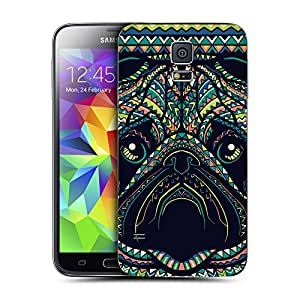 Head Case Designs Pug Aztec Animal Faces Replacement Battery Back Cover for Samsung Galaxy S5