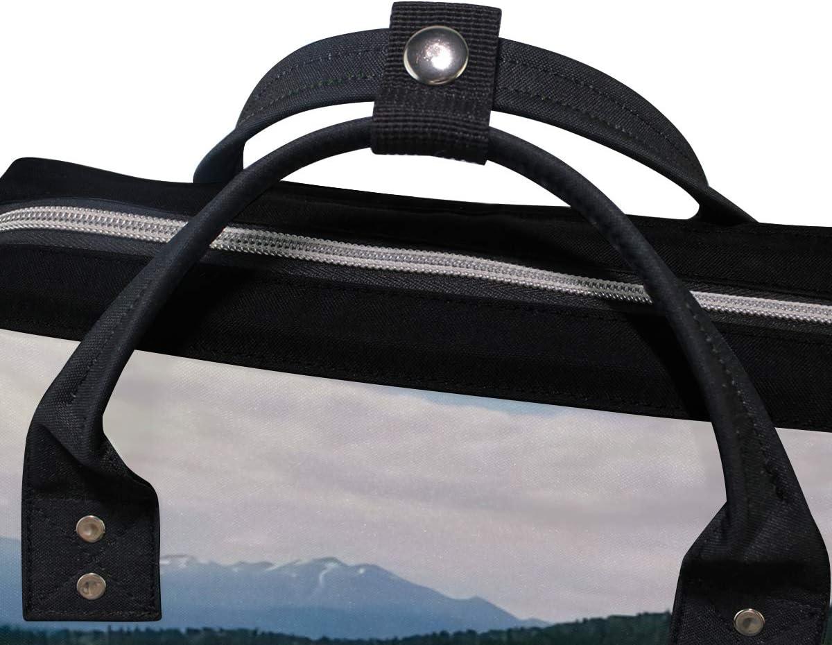 MONTOJ Amazing Canadian Emerald Lake Scenery Canvas Backpack Travel Campus Backpack