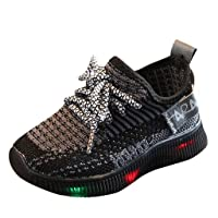 Baby Boys Girls LED Light Up Flashing Sneakers Shoes, Summer Comfortable Soft Knit...