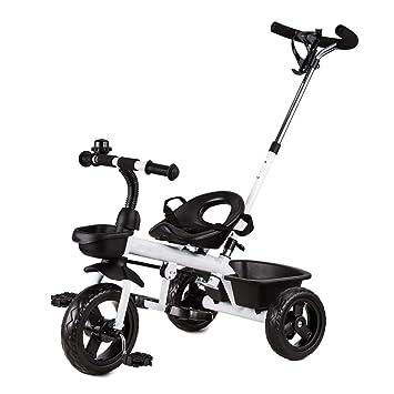 QQB &Carro Plegable Triciclo para niños Bicicleta para bebés/niños Rueda de Espuma 2-