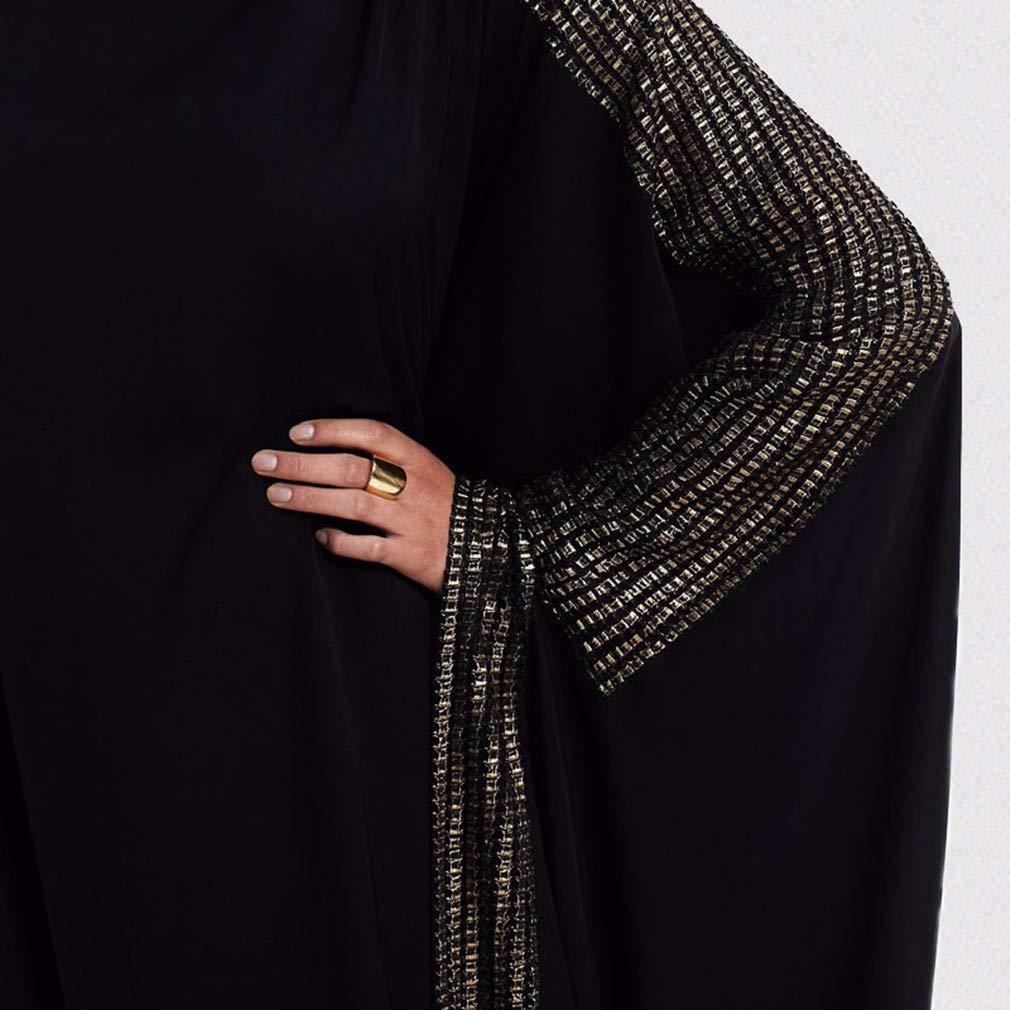 Abito Islamico Caftani Taglie Forti Dubai Kaftan Jalabiya zhxinashu Lungo Abaya Donna Musulmano Vestiti