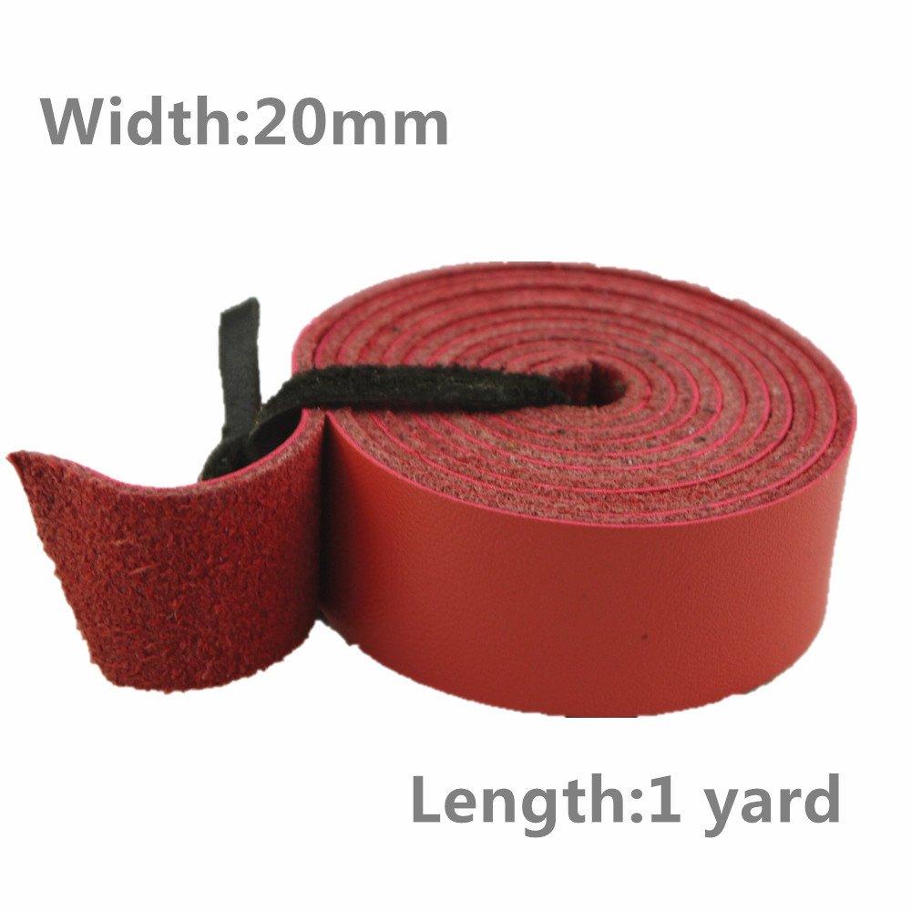 lieomo Leathercraftオレンジピンク本革ストラップ, 20 mm , 1ヤード B073P2V947