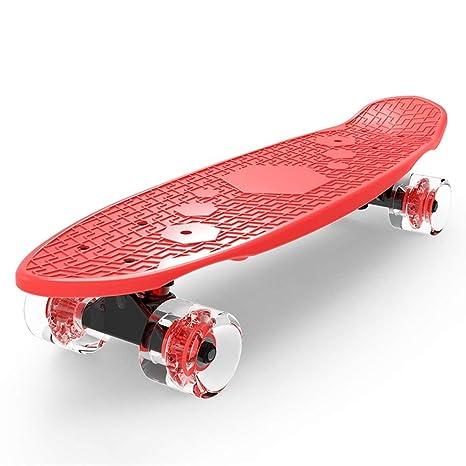 YRYRGXQ Patinete- Niños Skateboard 3-6 años de Edad Cuatro ...