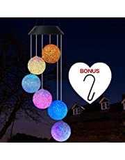 Wind Chime, Solar Crystal Ball/Solar Hummingbird Wind Chime Outdoor/Indoor(Gifts for mom/momgrandma Gifts/Birthday Gifts for mom),Outdoor Decor,Yard Decorations,Memorial Wind Chimes,Best mom Gifts