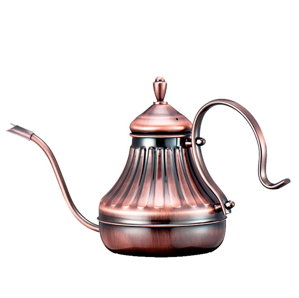 XL-CA-Narrow-necked coffee pot stainless steel pot Palace pots with narrow-necked pot hand washed pots Coffee and tea