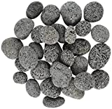 "Rainforest 1"" to 2"" Medium Margo Decorative River Polished Pebbles, 20 lb, Grade A Black"