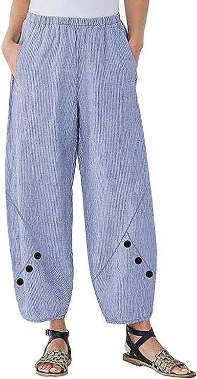cinnamou Pantalones Mujer, Pantalones Chinos Talla Grande Rays ...