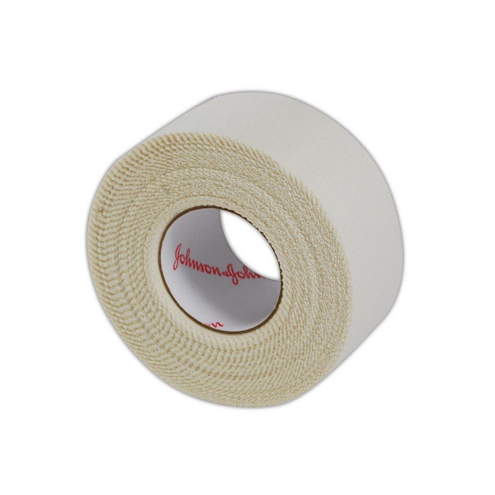 Johnson and Johnson JJ5104 Zonas Porous Adhesive Tape | Self-Adhesive Breathable Porous Tape with an Elasticized Cotton Cloth Backing - 1'' x 10 yd, White (12 Rolls) by Magid Glove & Safety