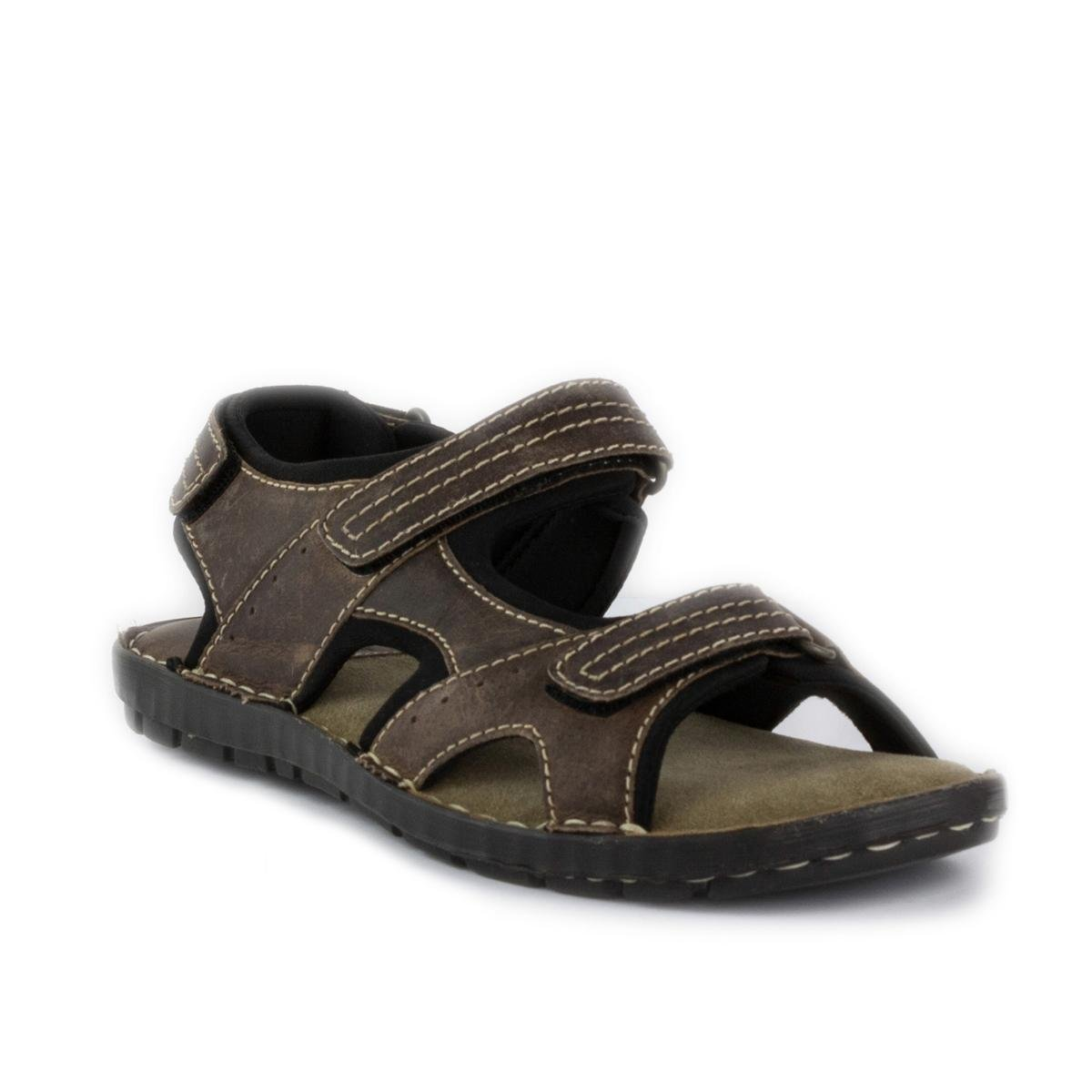Red Tape Mens Brown Leather Sports Sandal