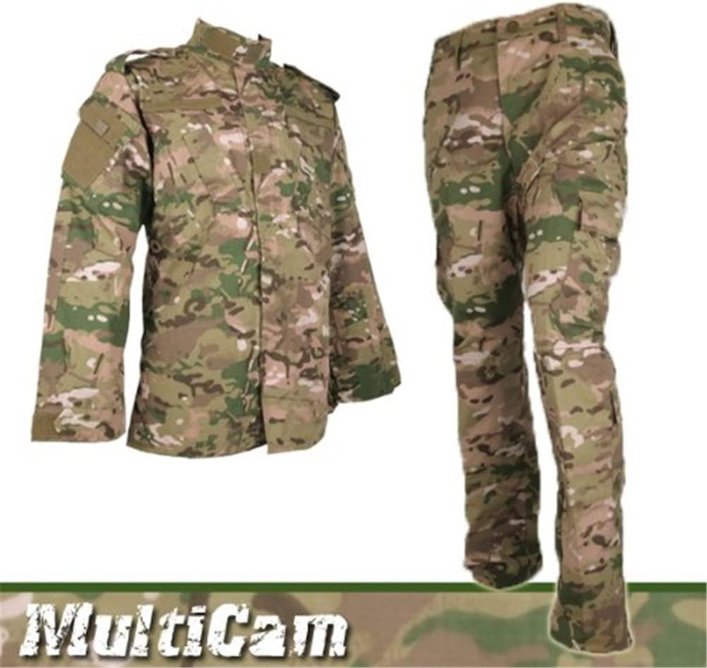 Ejército Militar gorra táctica Airsoft Pro uniforme pantalones y camisa Multicam Talla:large: Amazon.es: Deportes y aire libre