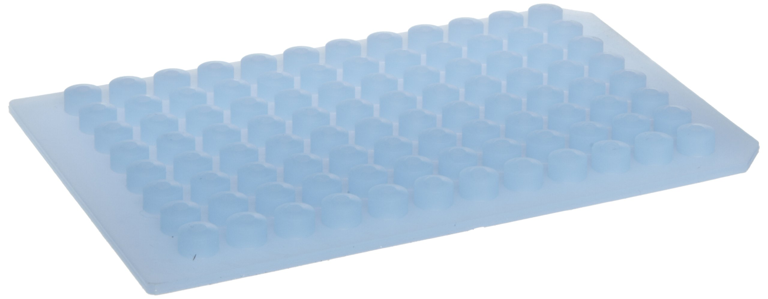 MicroMat Flat 96 Well Square PTFE Coated Silicone Microplate Sealing System, Blue (Case of 10)