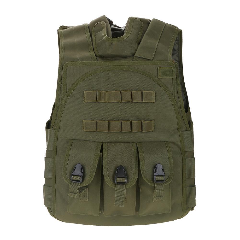 トレーニング ゲーム 保護用ベスト  屋外活動 B07BLVS897 军绿色 军绿色