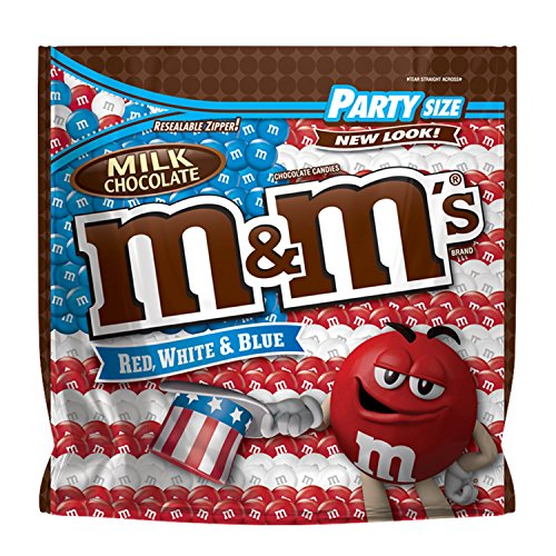 M&M'S Red, White & Blue Milk Chocolate Patriotic Candy Party Size 42-Ounce Bag