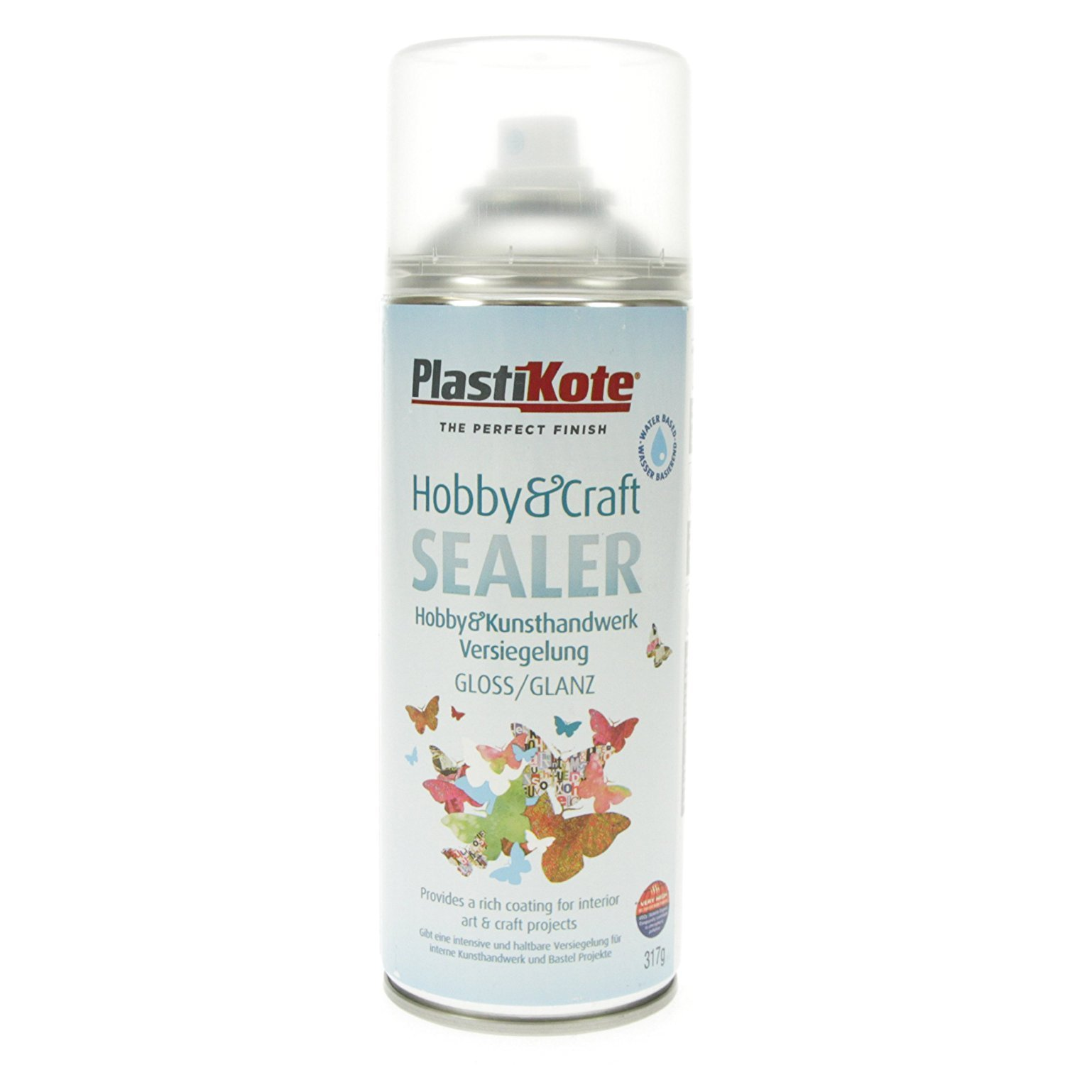 Plastikote 4141 400 ml Hobby Twist Gloss Craft Sealer - Clear