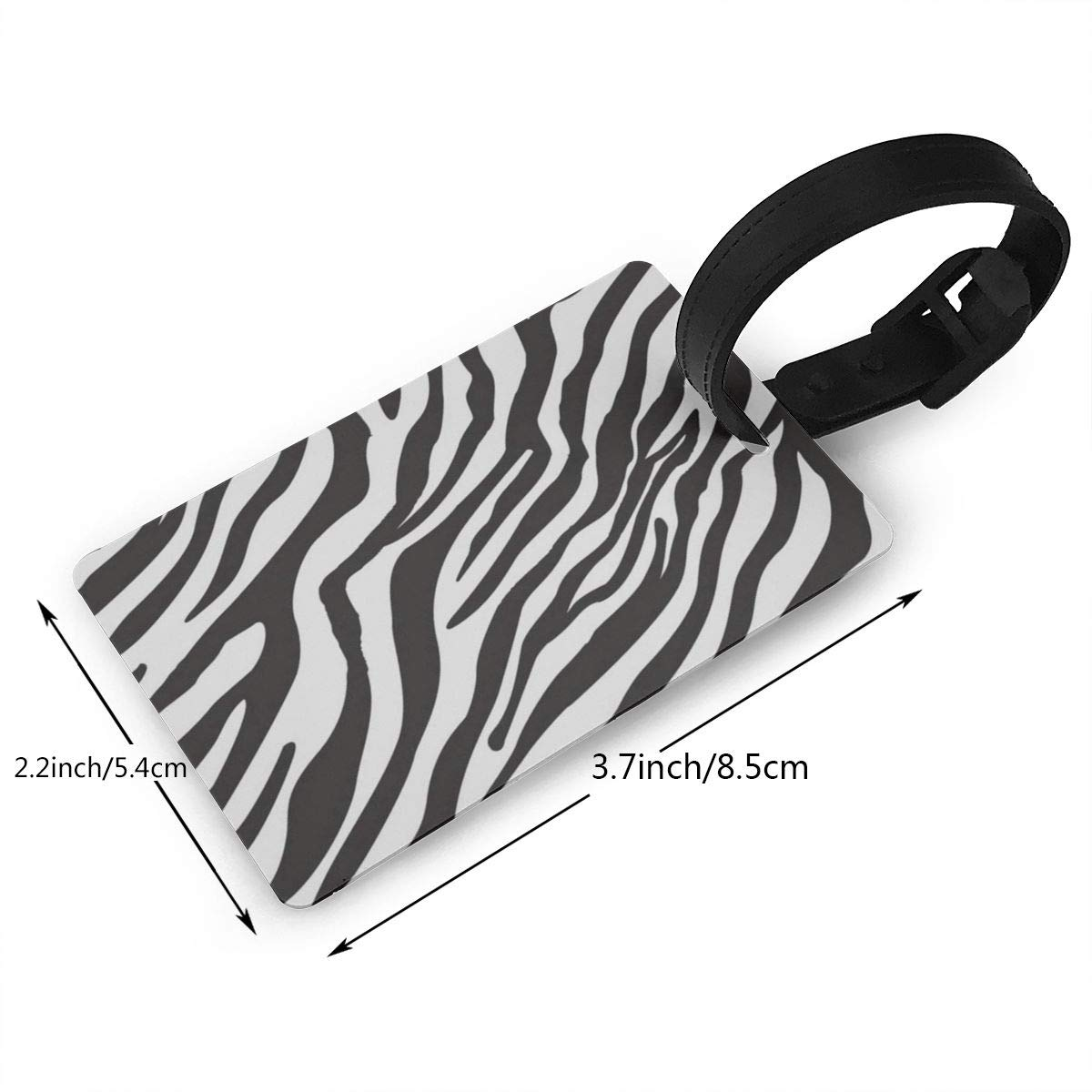 Luggage Tags Black And White Watercolor Tiger Head Bag Tag for Travel 2 PCS
