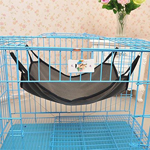 PinShang pet-Habitat-Bedding Cat Hammock Hanging Fleece Pet Cage Kitten Comfortable Soft Hammock Bed