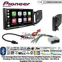 Volunteer Audio Pioneer AVH-W4400NEX Double Din Radio Install Kit with Wireless Apple CarPlay, Android Auto, Bluetooth Fits 2009-2010 Ram 2011-2014 Chrysler 200 (REF, REC, and RAK Factory Radios)