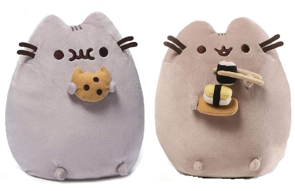 GUND Snackable Pusheen Plush Bundle of 2, Cookie and Sushi by GUND
