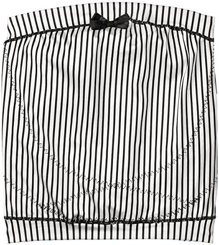 ローズマダム 【大人かわいい】 マタニティ妊婦帯 〔サテンストライブ〕 117-2906-01 ホワイト M-L