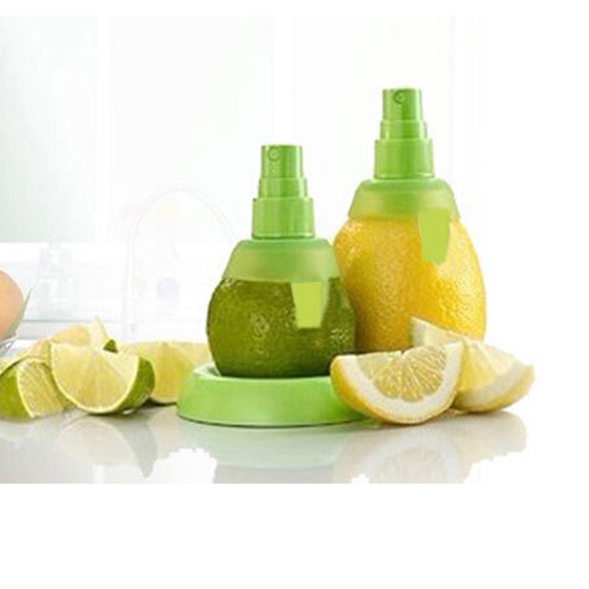 Naisidier 2 Piezas Extractor Pulverizador de Limón Naranja Exprimidor Manual Spray de Jugo Zumo