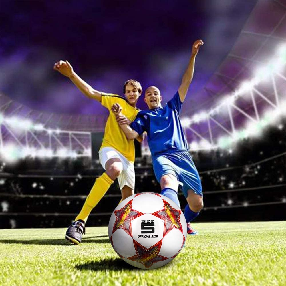 YANYODO Training Football for Kids//Children//Adults Size 3.4.5,Football Ball for Outddor//Indoor Games