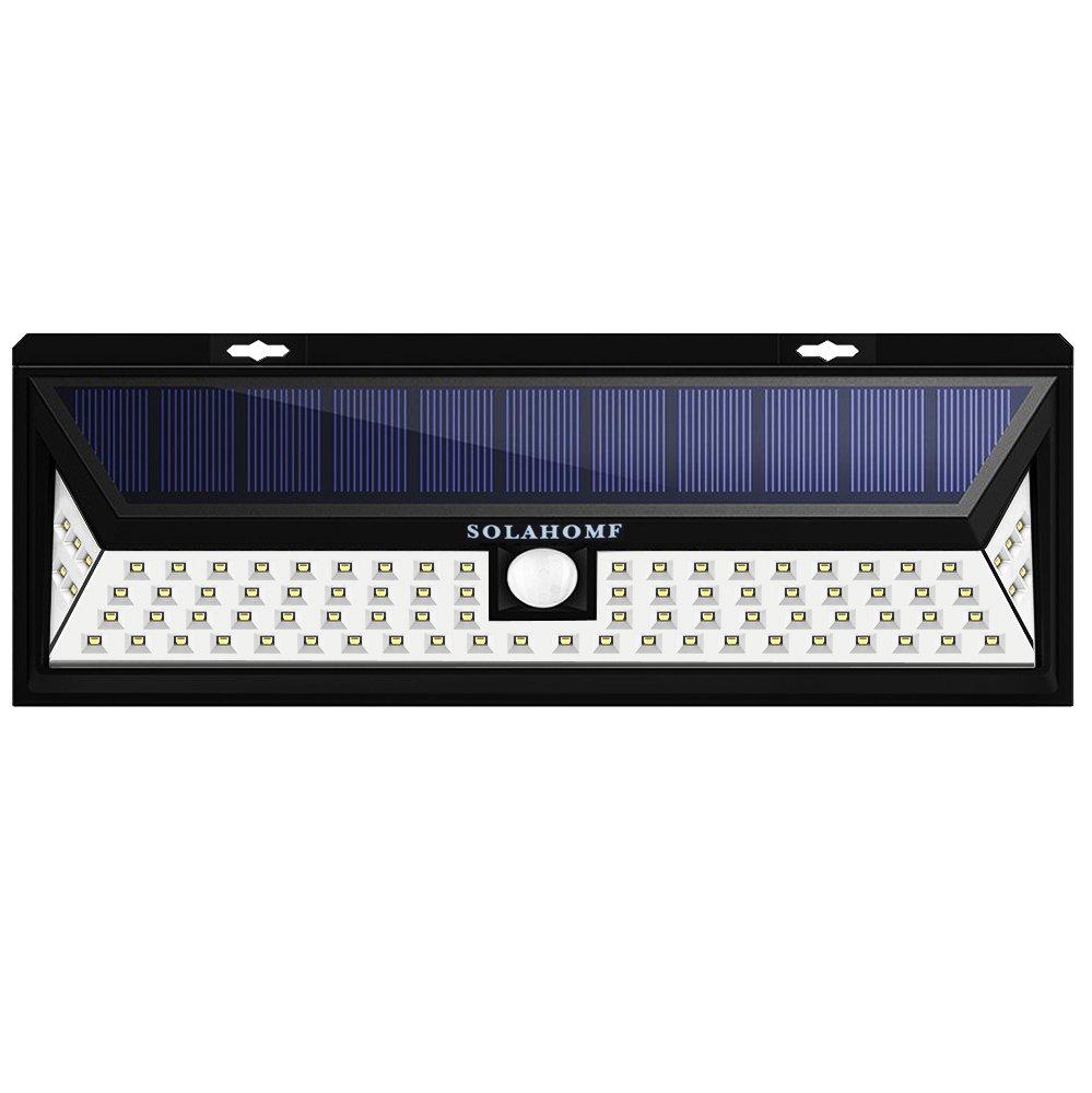 SOLAHOMF Solar Motion Sensor Light Outdoor, Super Bright Security Light 86 LED Solar Panel Powered Outdoor Security Light, Wall Light for Driveway, Garden, Patio, Yard,Deck, Garden