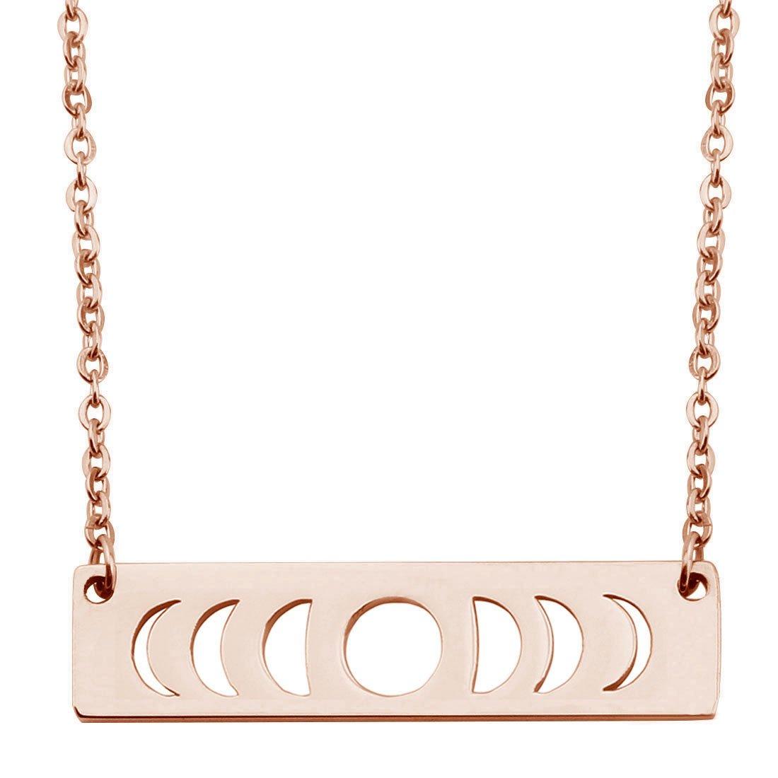 Moon Phase Necklace Bar Pendant Triple Goddess Jewelry KUIYAI KYCA-52S