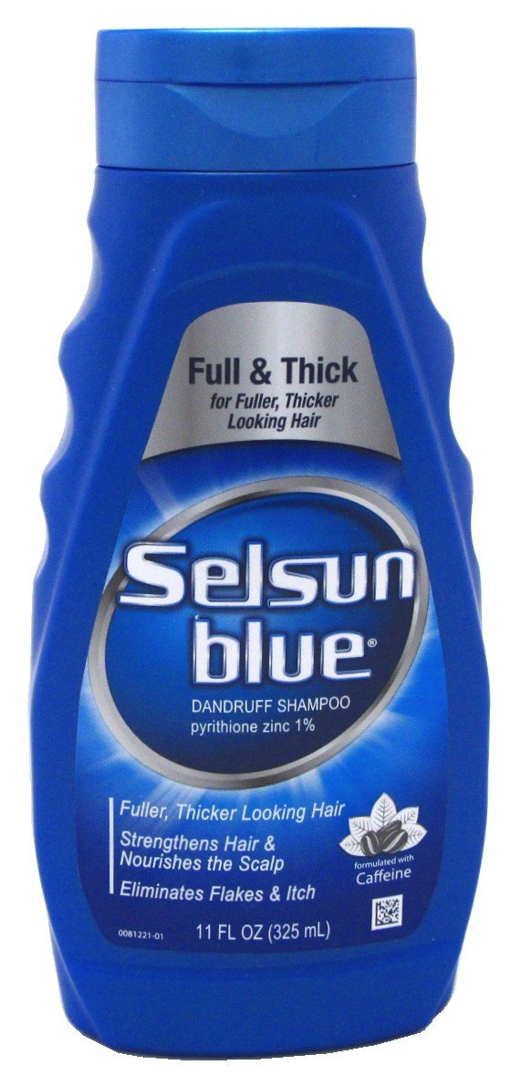 Selsun Blue Shampoo Dandruff For Fuller/Thicker Hair 11oz (6 Pack) by Selsun Blue