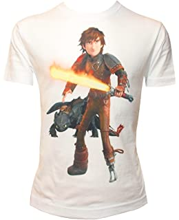 Camiseta Para Niño con Diseño de Cómo Entrenar a tu Dragón, HIPO con Espada y