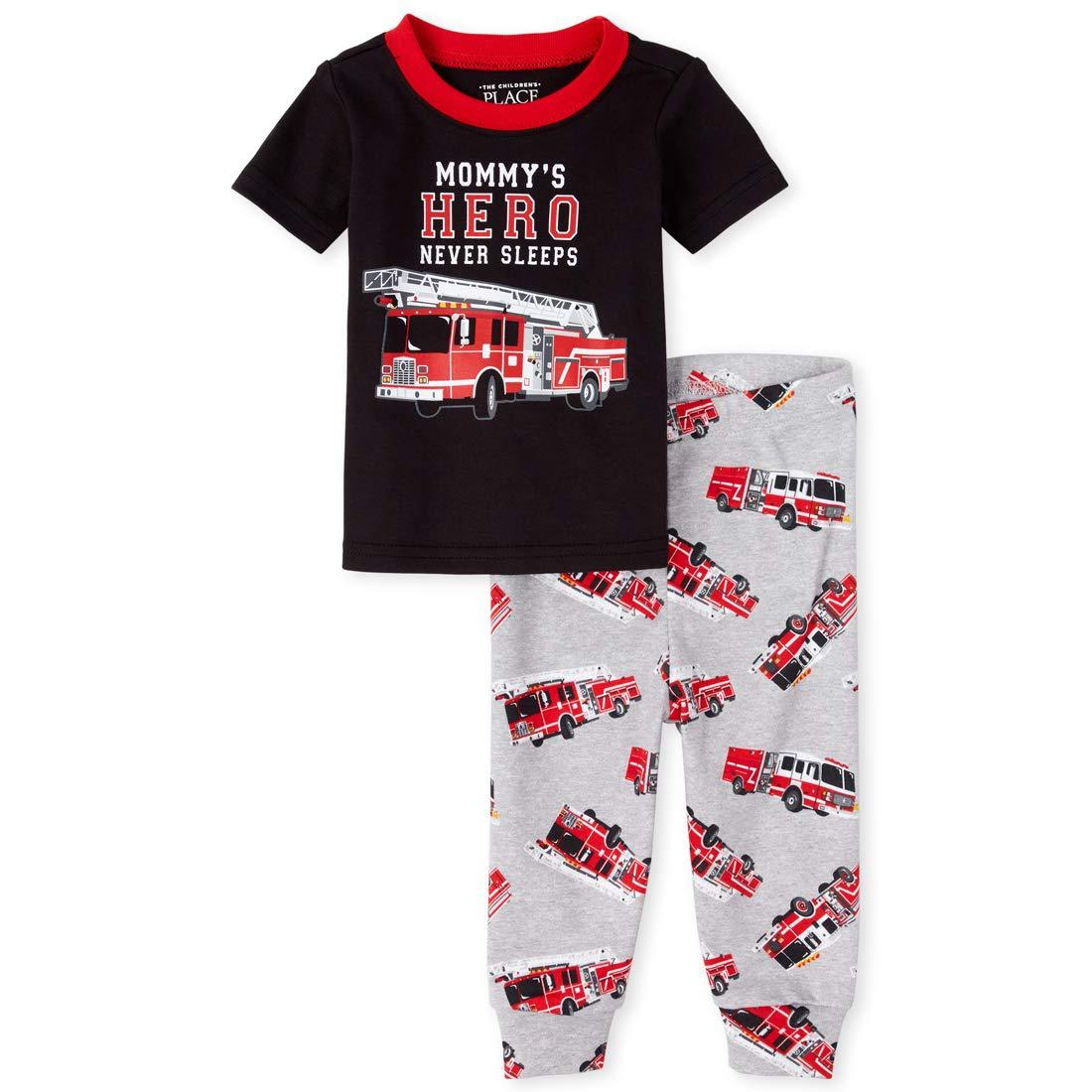The Childrens Place Baby Boys Sleeve Pajama Short Set
