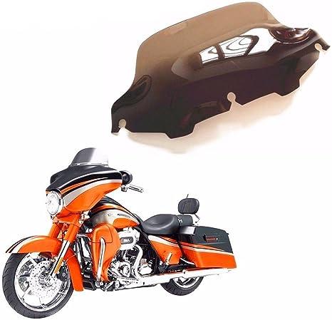 scuro nero fumo 22,9 cm Wave parabrezza per Harley Touring Flht 2014-up Cvo Flhx FL per 2014-2016 Cvo Electra Glide Cruiser 2014-2016 Cvo Electra Glide Cruiser